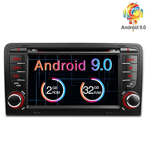 Freeauto für Audi A3/S3 7 Zoll Android 8.1 Betriebssystem Quad Core Auto DVD Player mit Screen Mirroring Funktion & OBD2 Dvd-tv-radio