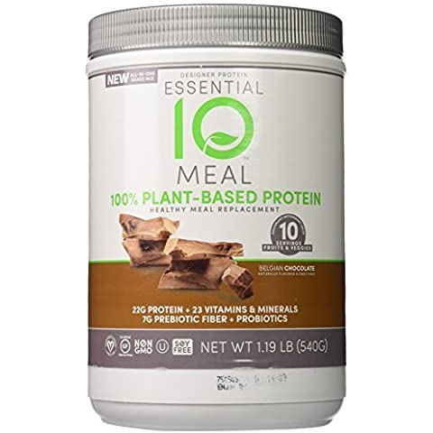 Designer Protein Essential 10 Meal Plant-Based Supplement, Belgian Chocolate, 1.19