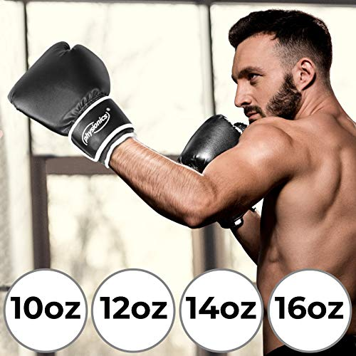 Boxhandschuhe - für Männer und Frauen, Größenwahl, mit Dick Gepolsterten - Kickbox, Handschutz, Punchinghandschuhe, Boxen, Kampfsport, Taekwondo, Freefight, Sparring, Training, Fitness, Sport