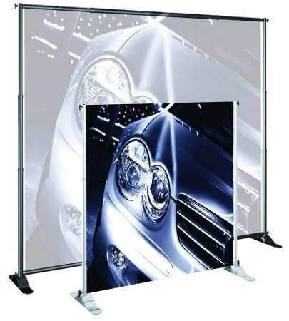 Jumbo Banner Stand Classic (for Large Format Graphics) Color: Silver, Width: 48-96 by Testrite - Jumbo-banner Stand