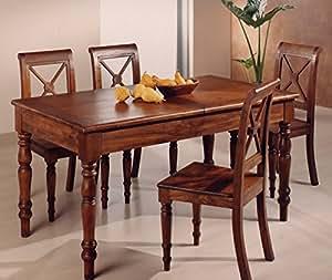 Tavolo da pranzo provenzale allungabile in legno massiccio for Tavoli per cucina in legno