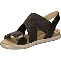 ECCO Damara 248223-50533 - sandali delle donne NEW stagione in liquirizia. Tomaie costituite da una combinazione di pelli elastici e ricchi per un look esclusivo. Seconda pelle fodera in pelle per un comfort ottimale del piede. Microfibra cop...