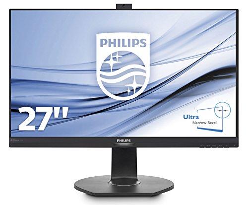Preisvergleich Produktbild Philips 272B7QPTKEB/00 27 cm (27 Zoll) Monitor (VGA, HDMI, 2x Displayport Daisy Chain, 3x USB 3.0, 2560 x 1440, höhenverstellbar, Pivot integrierte Webcam) schwarz