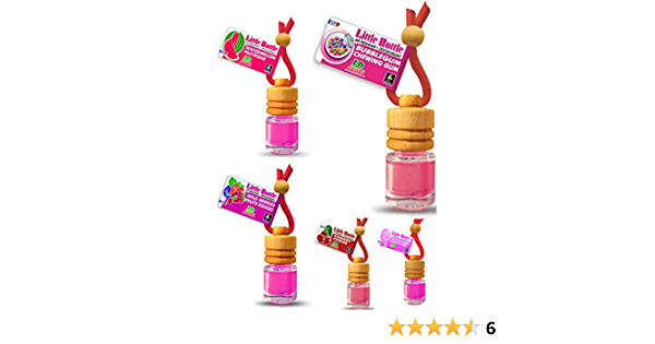 Ld 5 Stück Elegante Duftflakons Fürs Auto Autoduft Lufterfrischer Mix Bubble Gum Cherry Cotton Candy Watermelon Wild Berries Auto