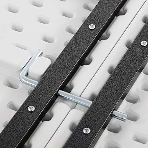 Bierzeltgarnitur 1 Partytisch 2 Bänke klappbar weiß 180 cm Gartengarnitur Set Festzelt Campingset Klapptisch 180×74 cm robust wetterfest - 8