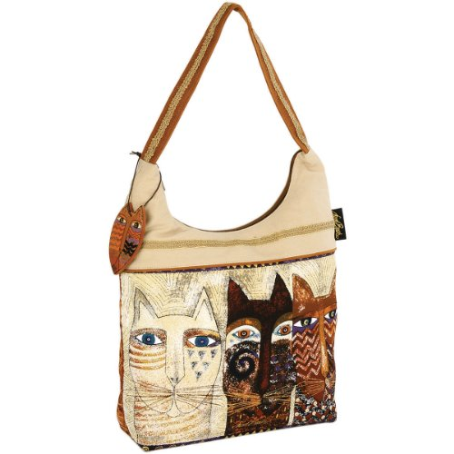 laurel-burch-laurel-burch-scoop-tote-zipper-top-15-inch-by-4-inch-by-13-inch-ancestral-cats