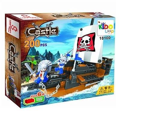 Kidoloop Building Block Pirates Bateau bateau Brique Construction Jouets 200Construction Bateau Pirate