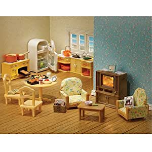 Sylvanian Families Kitchen And Living Room Collection Toys Games