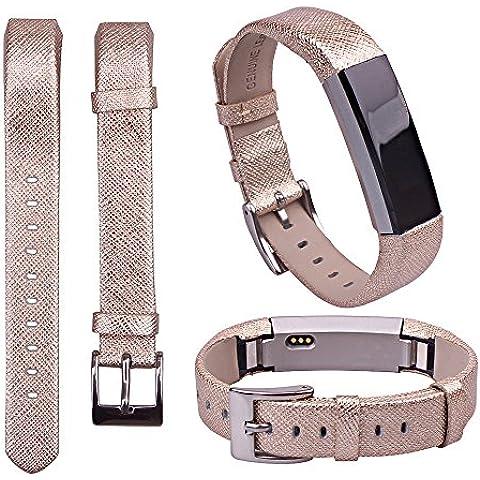 For Fitbit Alta ,Transer® Reemplazo de banda de cuero de lujo correa de pulsera para Fitbit alta Tracker