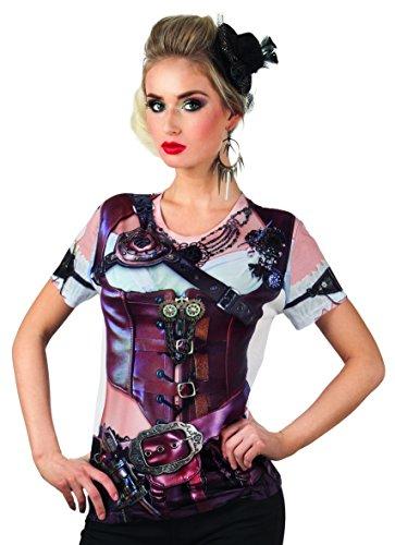 Fotorealistisches Shirt Mrs - Entdecker Kostüm Frauen