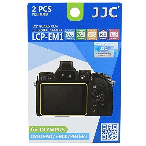 JJC Displayschutzfolie passgenau für Olympus OM-D E-M1, E-M5 Mk II, E-M10, E-P5, E-PL7, PEN-F - Anti-Kratzer Antireflex Displayschutz Folie - 2 Stück