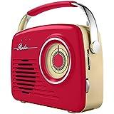 Akai a60014r Rétro radio AM/FM–Rouge