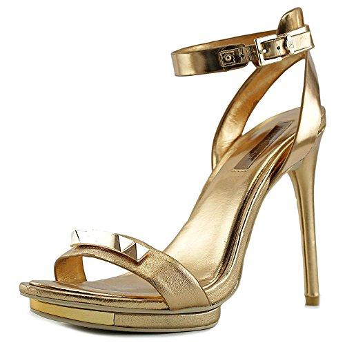 BCBG Max Azria Freesia Femmes Cuir Talons Compensés Gold Glitter