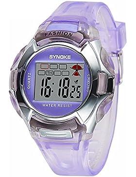 Children's electronic watch luminous-D