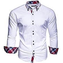 KAYHAN Herren Hemd Slim Fit Bügelleicht, Super Modern super Qualität