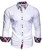 KAYHAN Herren Hemd Slim Fit Bügelleicht (S), Super Modern super Qualität