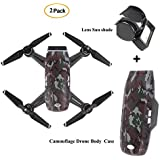 DJI Spark Combo Accessories Set Waterproof Protective Body Cover Case Bump Resistant Guard And Gimbal Lens Cap Sun Hood Shade For Spark Drone By Hobby-Ace