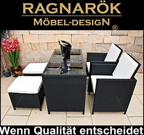 Ragnarök-Möbeldesign RAGNARÖK PolyRattan DEUTSCHE MARKE - EIGENE PRODUKTION - 8 Jahre GARANTIE...