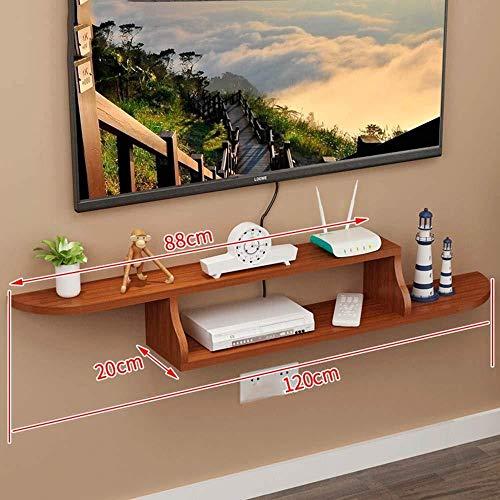 Top-komponente Regal (HONGYU Regal Set-Top Box TV Schrank Wand Trennwand Wanddekoration Rahmen -5 Farben -120 * 80 * 20cm (Farbe : D))