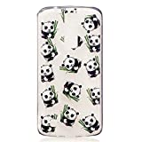 Coque LG K8, MUTOUREN Coques LG K8 Ultra mince Hybrid Coussin d'Air Crystal Clear Coque Housse Bumper Cover pour LG K8-Bamboo Panda