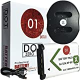 DOT-01 Brand 1800 MAh Replacement Sony NP-BX1 Battery And Dual Slot USB Charger For Sony DSC-WX500 Digital Camera And Sony BX1