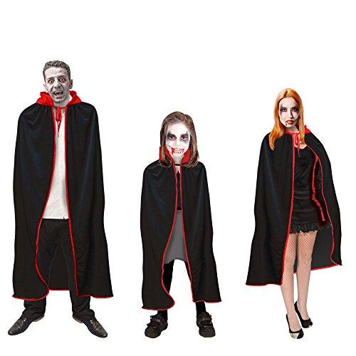 Vampirumhang Dracula Umhang Kinder Damen Herren 128 - XXL Halloween Karneval (Herren 135 (Ratte Kostüm Herren)