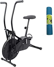 Lifeline Exercise Air Bike Cycle for Home Use   Bundles with Yoga Mat 6 mm