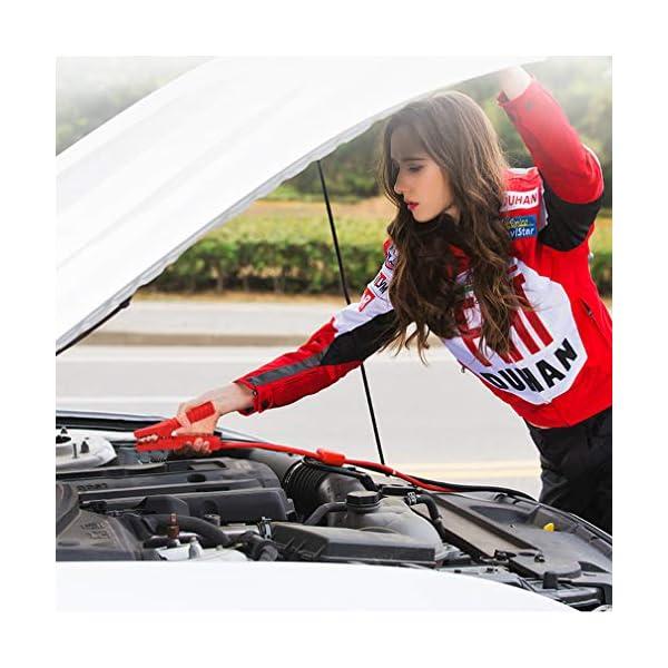 Pinzas para arranque de motores JJOnlinestore; 4m y 800A; rojo y negro; para coches, furgonetas y camiones; con funda de transporte