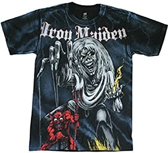 Global Iron Maiden Number Of The Beast Adult T-Shirt-Large