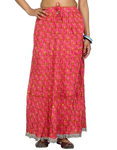 Rajrang Pink Ethnic Printed Women Skirts