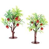 Baoblaze 2 Stück Blumen und Pflanzen Apfelbaum Kinder Spielzeug