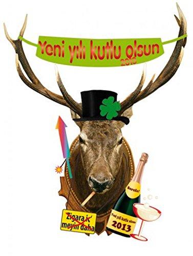 noche-vieja-deer-head-yeni-yili-kutlu-olsun-in-turkish-pegatina-para-pared-149-x-117cm