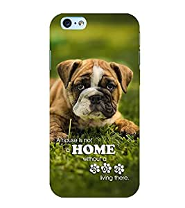 FUSON Beige Dog Pet Pug 3D Hard Polycarbonate Designer Back Case Cover for Apple iPhone 6s Plus :: Apple iPhone 6s+