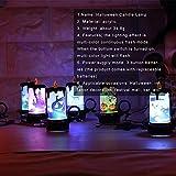 iBaste 4er Set Halloween Dekoration Licht Kerzenlicht Tischdeko mit Batterie 7cmx8.5cm Partydeko Laterne Beleuchtung - 4