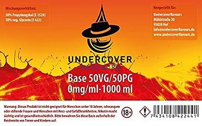 Undercoverflavours Liquid Basen VPG 50/50 1000ml von Undercoverflavours