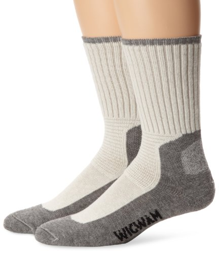 Wigwam Men's At Work DuraSole Work 2-Pack Crew Length Work Sock (Pack 2 Socks Work)