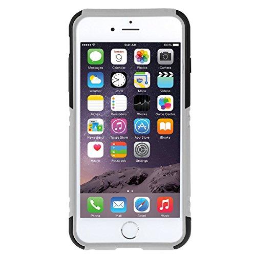 iPhone 6S Plus Case, HAWEEL ® iPhone 6 Plus/iPhone 6S Plus(5.5) Custodia con supporto - Dual Layer TPU custodia plastica combinata con cavalletto per iPhone 6 Plus/iPhone 6S Plus, Baby Blue Black