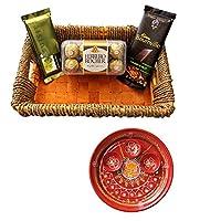 SFU E Com Holi Chocolate Basket Hamper   Holi Special Chocolate Gift   Premium Chocolate Hamper   Holi Pooja Thali   Pack of Chocolate Box-1   17