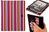 """Pink Stripe 8 Inch Tablet Cover for A1CS FUSION5 ECONOMY Tablet PC - 8"""" screen 8 Inch Android 4.0.3"""