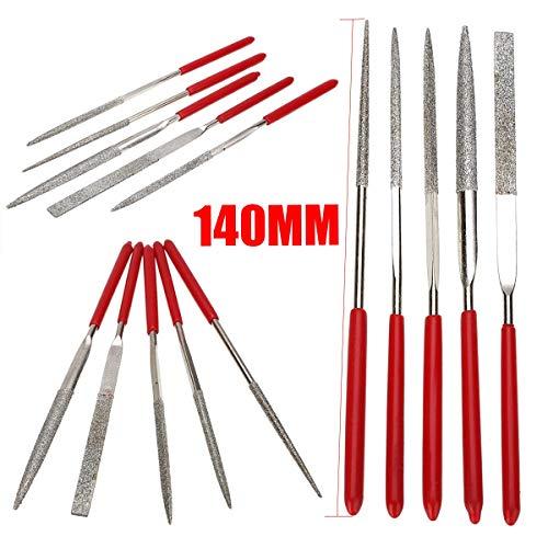 FTDDFJAS 5 stücke 140mmHolzRaspelfeilenMiniNadelfeileSet Handliche Werkzeuge für DIY Holzbearbeitungshandwerkzeuge