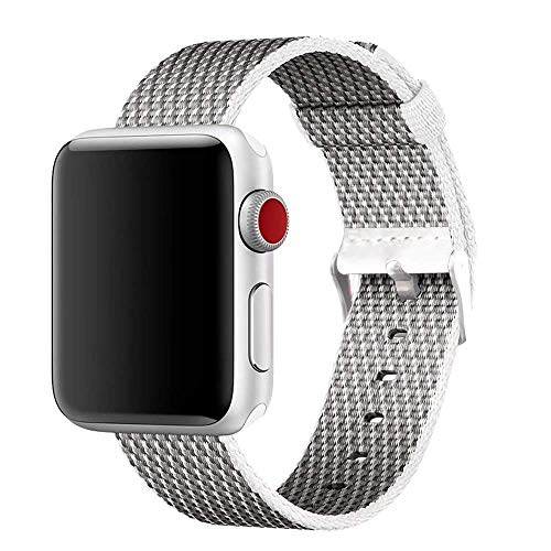 HILIMNY For Apple Watch Strap 42MM, Stainless Steel Buckle iWatch Strap, for 3 Series, 2 Series, 1 Series, Nike +, Edition, Hermes, White (Pictures), 42MM