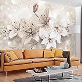 murando - Fototapete 250x175 cm - Vlies Tapete - Moderne Wanddeko - Design Tapete - Wandtapete - Wand Dekoration - Blumen Lilien Diamant Ornament b-A-0285-a-b