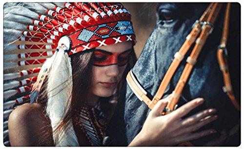 Indianer Pferd Wandtattoo Wandsticker Wandaufkleber R1052 Größe 70 cm x 110 cm