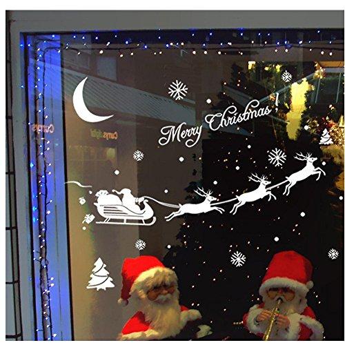 Autoadesivo, SW Christmas Natale Decorazione Finestra Adesivi Casa Decor - Pannello Di Vetro Del Pannello Della Finestra