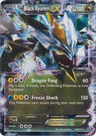 Pokemon-Noir Kyurem EX (100/113)-légendaire Trésors-Holo