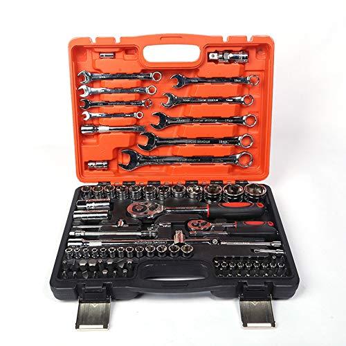 SanQing 82 Stück Schnell Ratsche Set Multifunktions Sleeve Werkzeug Auto-Reparatur-Werkzeug,82PIC