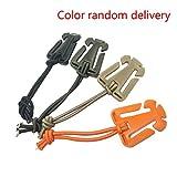 Republe 4pcs Nylon Stahlaußen Quickdraw Karabiner-Gürtelschnalle Elastisches Seil Lagerung(Zufällige Farbe)