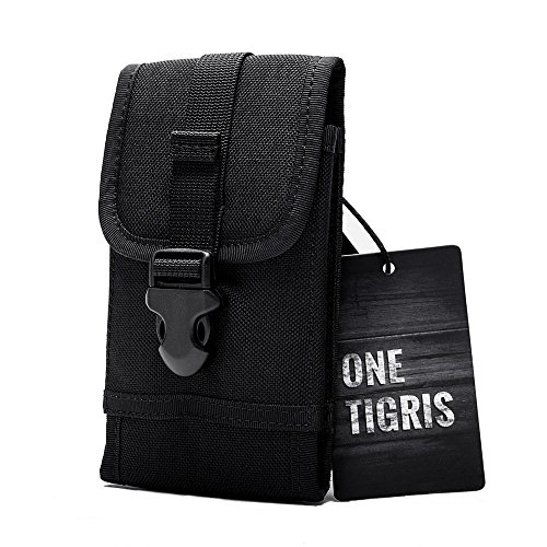 OneTigris Molle Taktische Handytasche für iPhone6/iPhone6 Plus/iPhone 6s/iPhone 6s Plus /Galaxy Note 4/Blackberry 8300/HTC One Max (Schwarz)