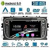 Ohok 7 Pollici Android 9.0 Pie Octa Core 4G+32G 2 Din In Dash Autoradio Schermo di Tocco Lettore DVD Navigatore GPS Con Bluetooth Per Ford Focus nero