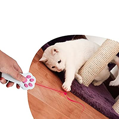 SUNNOW® Paw shape Cat Interactive LED Light Pointer Cat Exercise Chaser Toys Pet Scratching Training Tool